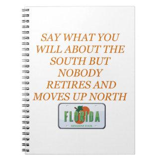 フロリダおよび南に退職させて下さい ノートブック