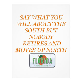 フロリダおよび南に退職させて下さい レターヘッド