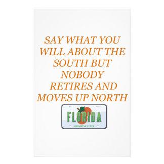 フロリダおよび南に退職させて下さい 便箋