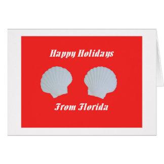 フロリダからの幸せな休日 カード