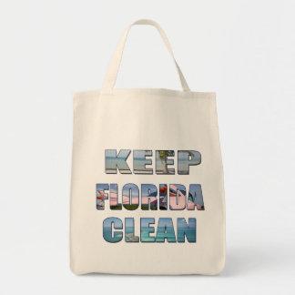 フロリダのきれいな熱帯ビーチのバッグを保って下さい トートバッグ