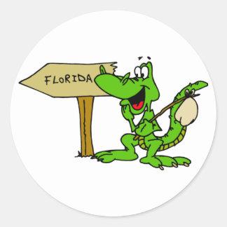 フロリダのわに ラウンドシール