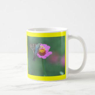 フロリダのガおよび《植物》百日草のマグ コーヒーマグカップ