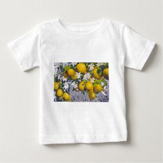 フロリダのグレープフルーツ及び花 ベビーTシャツ
