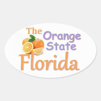 フロリダのステッカー 楕円形シール
