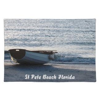 フロリダのビーチのボートのランチョンマット ランチョンマット