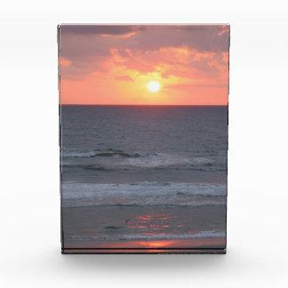 フロリダのビーチの日の出のアクリルの写真のブロック 表彰盾