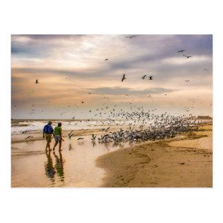 フロリダのビーチ旅行写真撮影で歩くこと ポストカード