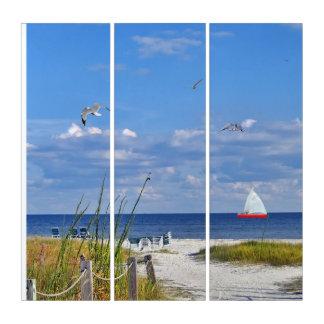 フロリダのビーチ、海岸および鳥 トリプティカ