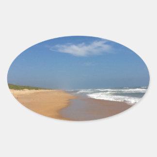 フロリダの中央ビーチ 楕円形シール