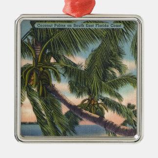 フロリダの南東の海岸のココヤシの木 メタルオーナメント