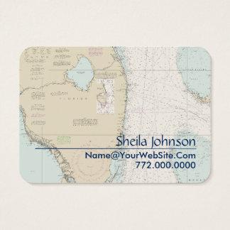 フロリダの南航海のな図表きれいで新しく青いタン 名刺