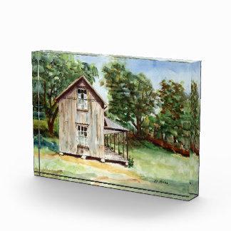 フロリダの古い家屋敷の素朴な水彩画の絵画 表彰盾