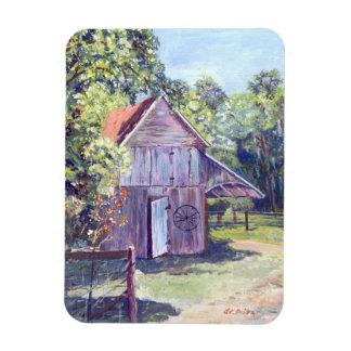 フロリダの古い納屋の素朴なアクリルの絵画 マグネット