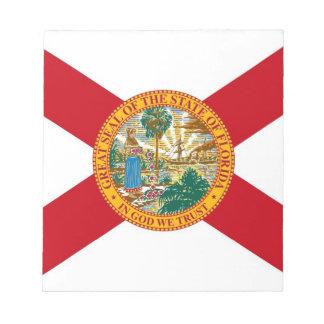フロリダの国家の旗が付いているメモ帳 ノートパッド