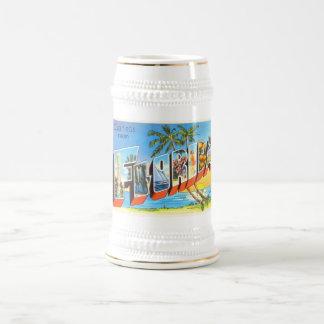 フロリダの国家# 2 FLの古いヴィンテージ旅行記念品 ビールジョッキ