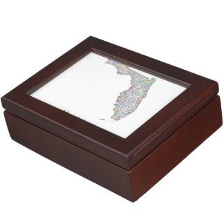 フロリダの地図 ジュエリーボックス
