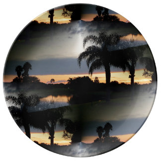 フロリダの夢みるような日没 磁器プレート