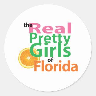 フロリダの実質のかわいらしい女の子 ラウンドシール