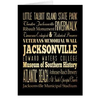 フロリダの州のタイポグラフィの芸術のジャクソンビル都市 カード