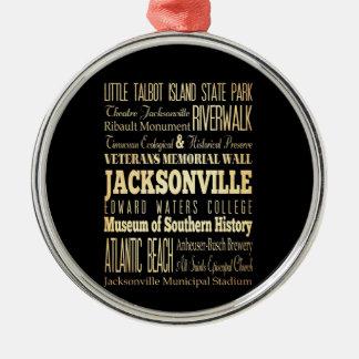 フロリダの州のタイポグラフィの芸術のジャクソンビル都市 メタルオーナメント