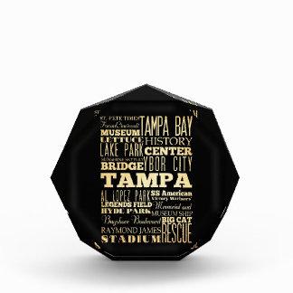 フロリダの州のタイポグラフィの芸術のタンパ都市 表彰盾