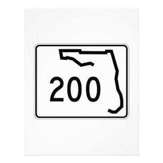 フロリダの州のルート200 レターヘッド