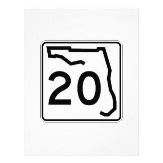 フロリダの州のルート20 レターヘッド