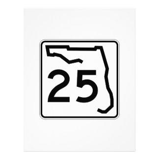 フロリダの州のルート25 レターヘッド