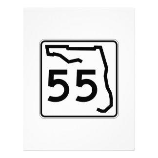 フロリダの州のルート55 レターヘッド