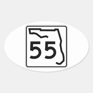 フロリダの州のルート55 楕円形シール