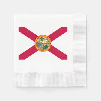 フロリダの州の旗のデザイン 縁ありカクテルナプキン