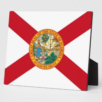 フロリダの州の旗のプラク フォトプラーク
