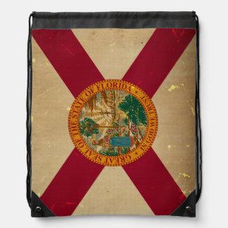 フロリダの州の旗VINTAGE.png ナップサック