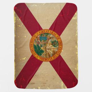 フロリダの州の旗VINTAGE.png ベビー ブランケット