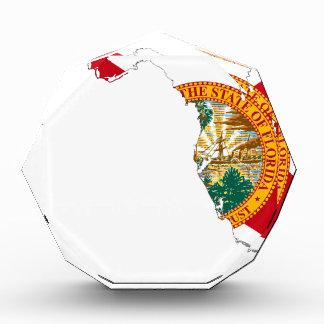 フロリダの旗の地図 表彰盾