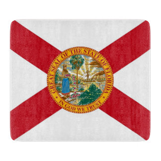 フロリダの旗を持つ小さいガラスまな板 カッティングボード