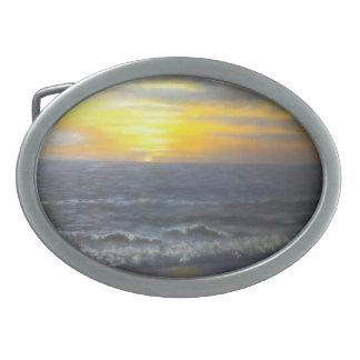"""フロリダの日没のベルトの留め金"""" 卵形バックル"""