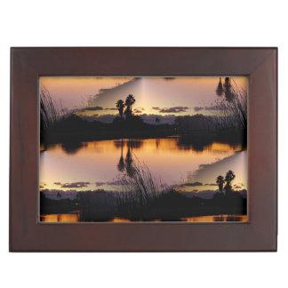 フロリダの日没の反射 ジュエリーボックス