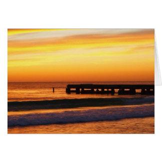 フロリダの日没の挨拶状 カード