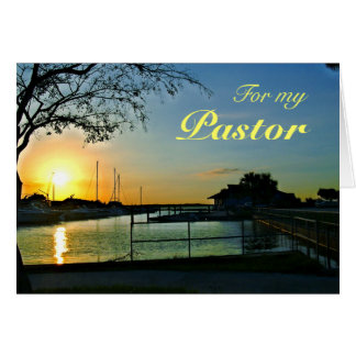 フロリダの日没の牧師の感謝 カード