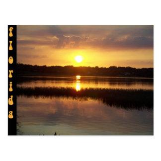 フロリダの日没のAutumの色相 ポストカード