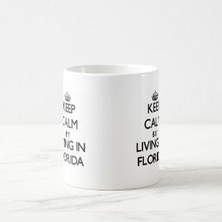 フロリダの生存によって平静を保って下さい コーヒーマグカップ