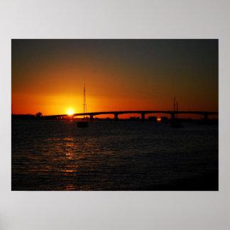 フロリダの美しい日没 ポスター