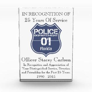 フロリダの警察の盾01 表彰盾