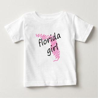 フロリダの走り書きされた地図を持つフロリダの女の子 ベビーTシャツ