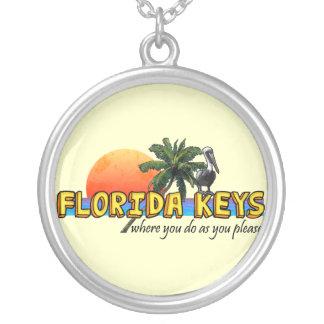 フロリダの鍵 シルバープレートネックレス