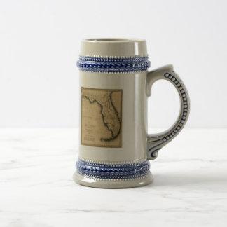 フロリダの1823地図 ビールジョッキ