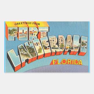 フロリダのFort Lauderdaleの4つのステッカーのシート 長方形シール