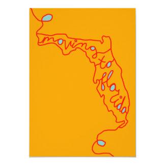 フロリダへの移動 12.7 X 17.8 インビテーションカード